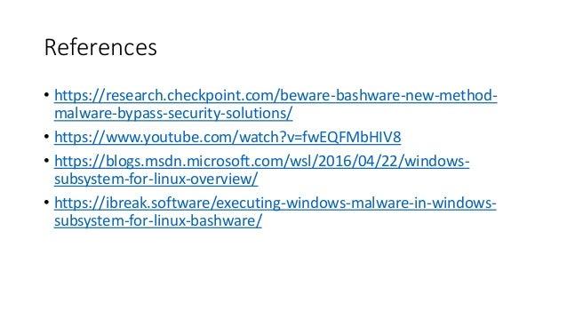 Executing Windows Malware through WSL (Bashware)