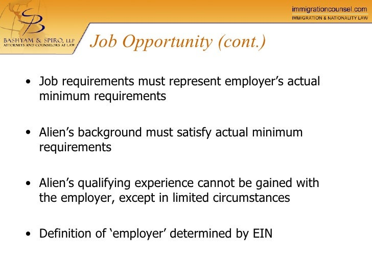 perm llp spiro bashyam certification labor process