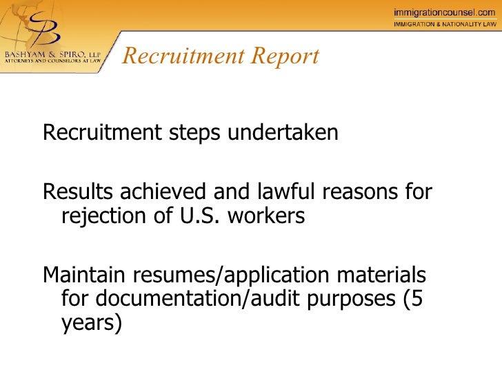 llp spiro bashyam perm certification labor process