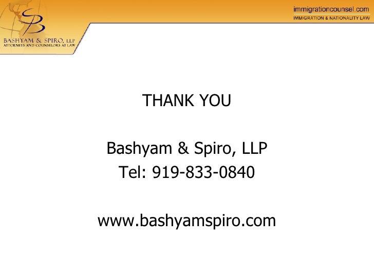 spiro llp bashyam perm certification labor process