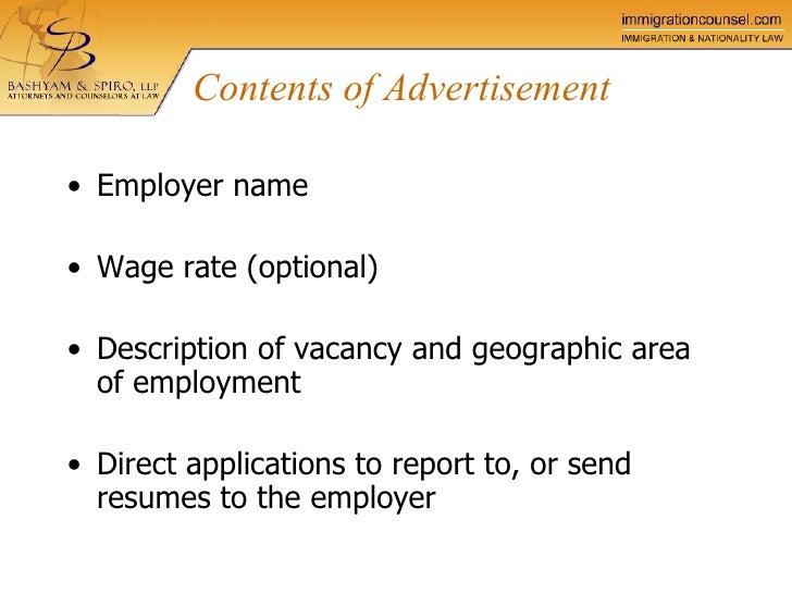 perm certification labor process bashyam spiro llp
