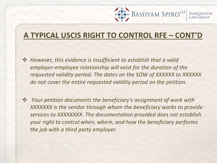 H-1B 'Right To Control' RFEs: What to Expect and How to