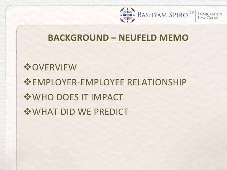 neufeld memo employer employee relationship philippines