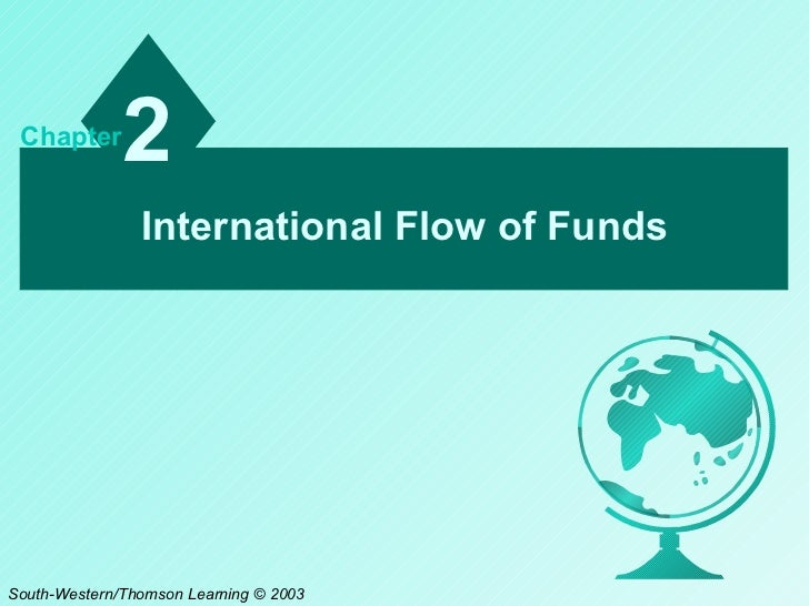 International Flow of Funds 2 Chapter South-Western/Thomson Learning © 2003