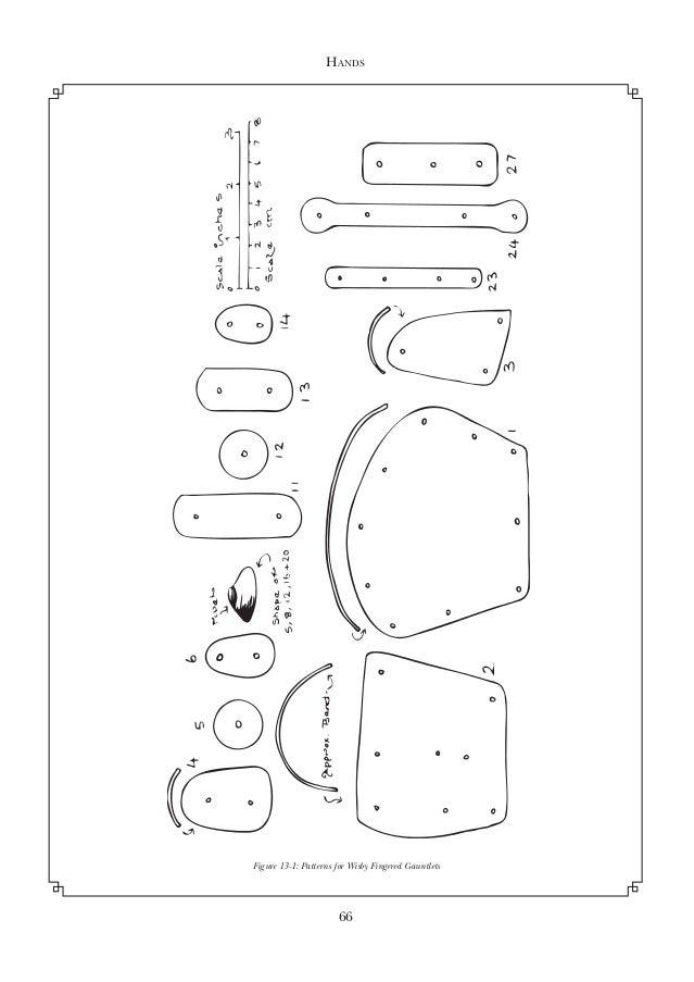 Gauntlet Armor Templates Sketch Coloring Page