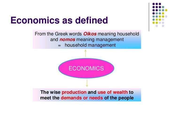 Exceptional Economics ...