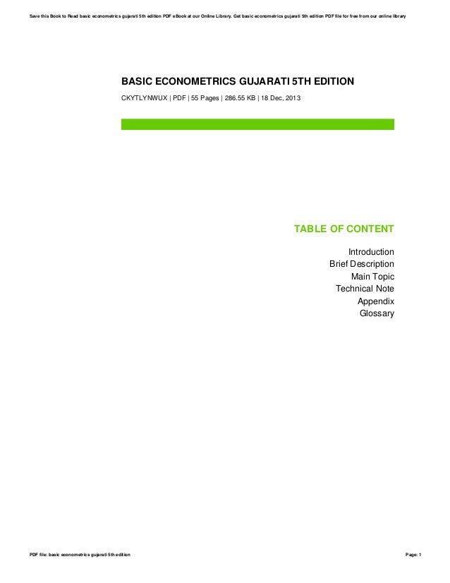 Basic econometrics gujarati 5th edition basic econometrics gujarati 5th edition ckytlynwux pdf 55 pages 28655 kb 18 fandeluxe Gallery