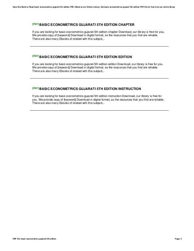 Basic econometrics gujarati 5th edition basic econometrics gujarati 5th edition page 3 4 pdf fandeluxe Gallery