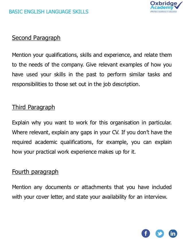 paragraph about english language
