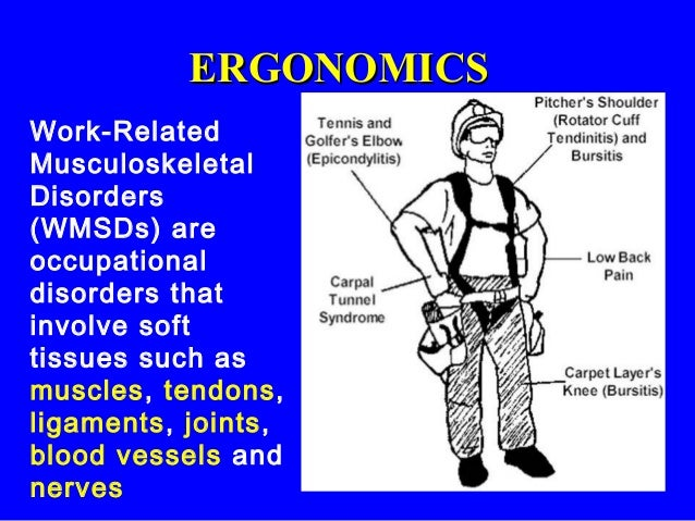 work related musculoskeletal disorders Background: work-related musculoskeletal disorders (wmsds) are common in the field of physiotherapy because of the nature of the profession however the rates and.