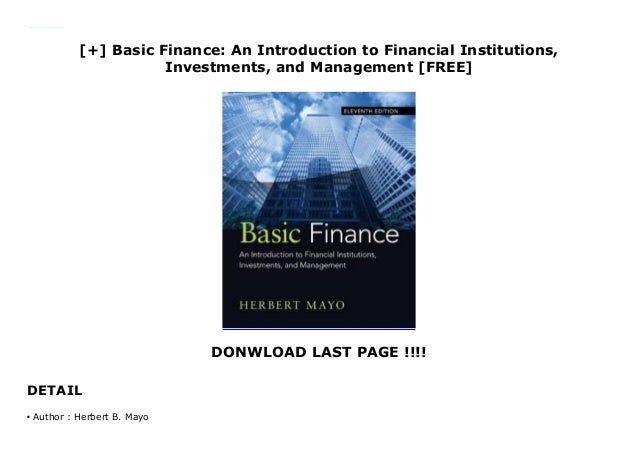 Finance introduction to institutions investment and management long investment management