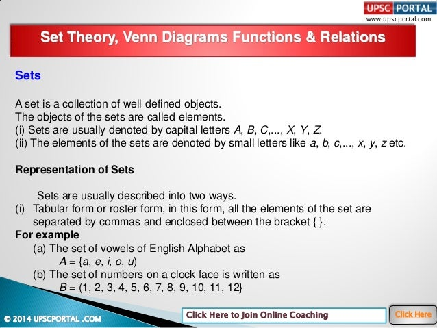 Basic numeracy set theory venn diagrams functions relations ccuart Images