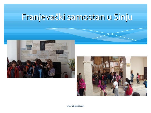 Franjevački samostan u SinjuFranjevački samostan u Sinju www.zbornica.com