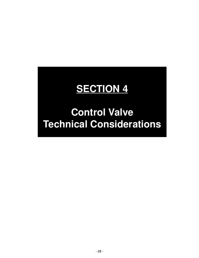Basic operation and function of control valves 28 section 4 control valve technical considerations publicscrutiny Images