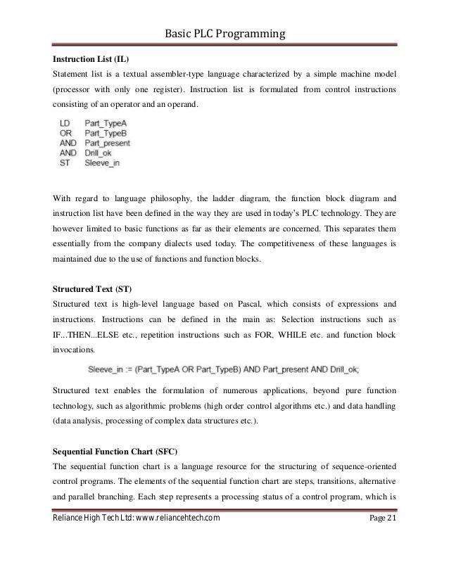 Basic plc-programming