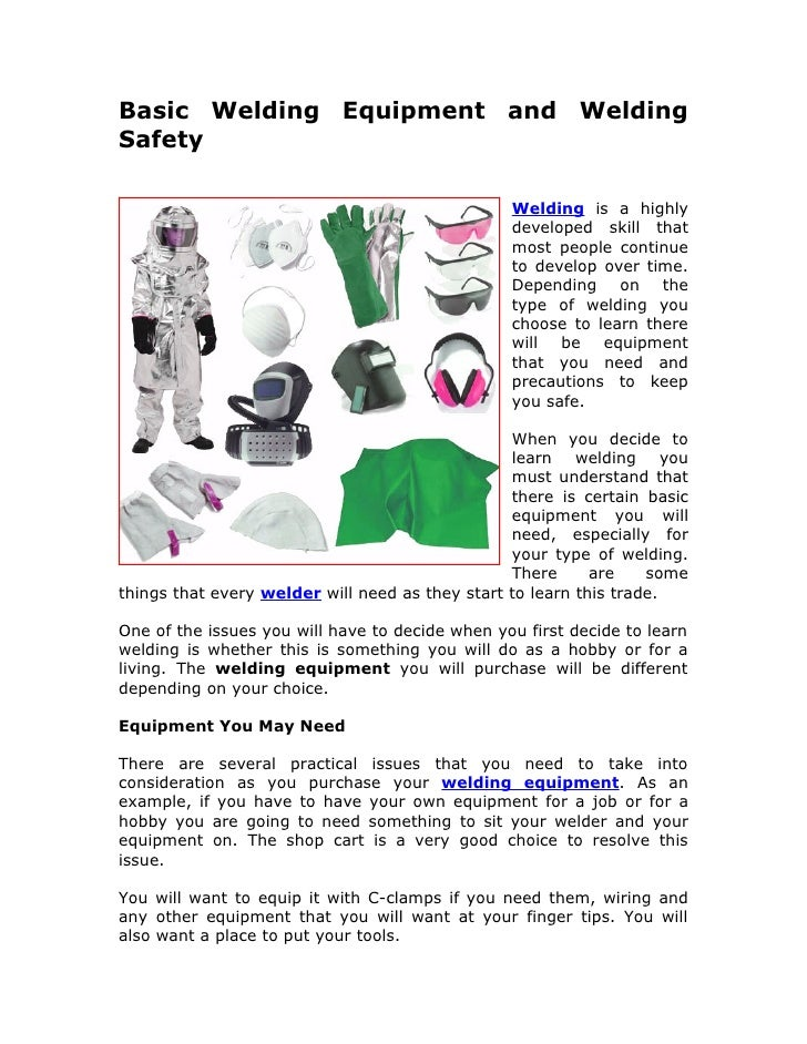Health and safety in welding