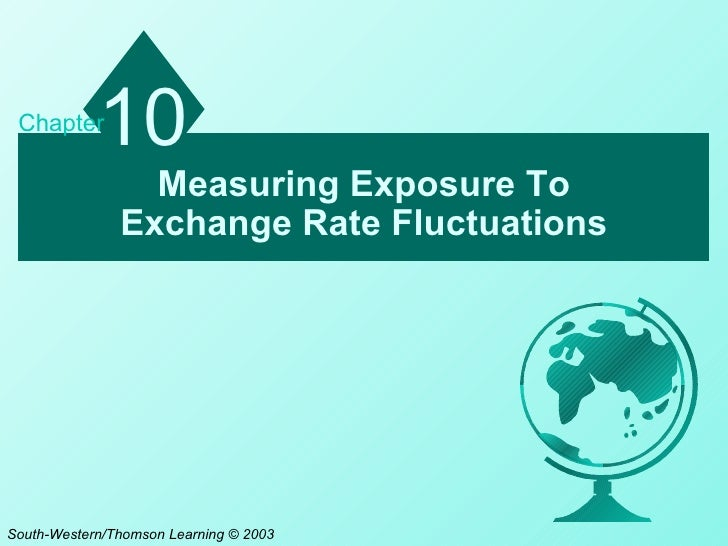 Chapter            10                 Measuring Exposure To               Exchange Rate FluctuationsSouth-Western/Thomson ...