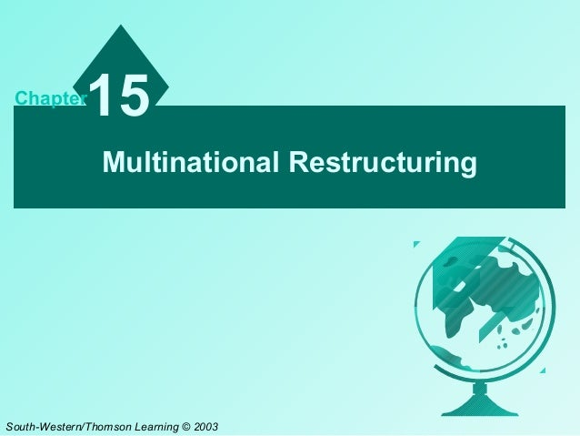 15  Chapter  Multinational Restructuring  South-Western/Thomson Learning © 2003
