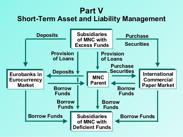 Part V  Short-Term Asset and Liability Management Subsidiaries of MNC with Excess Funds  Deposits Provision of Loans Eurob...