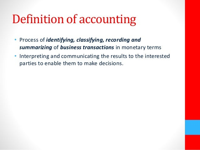 Basic accounting and financial managet