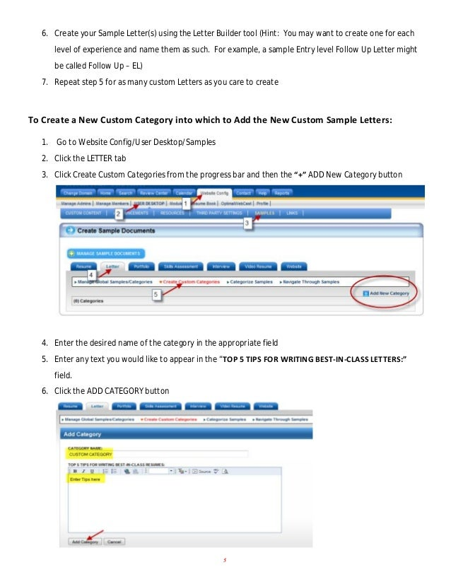 how to add new sample letters and new categories 4 7 6