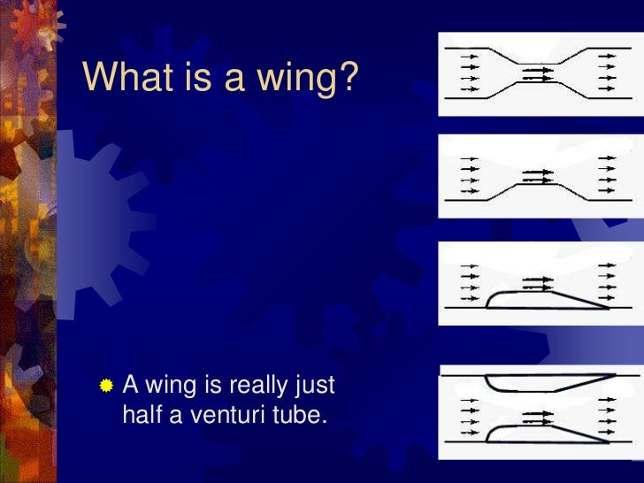 What is a wing?<br />A wing is really just half a venturi tube.<br />