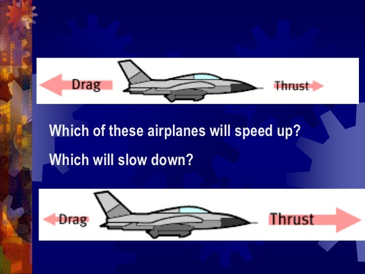 Which of these airplanes will speed up?  <br />Which will slow down?<br />
