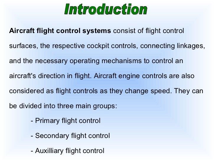 Basic aircraft control system Slide 3