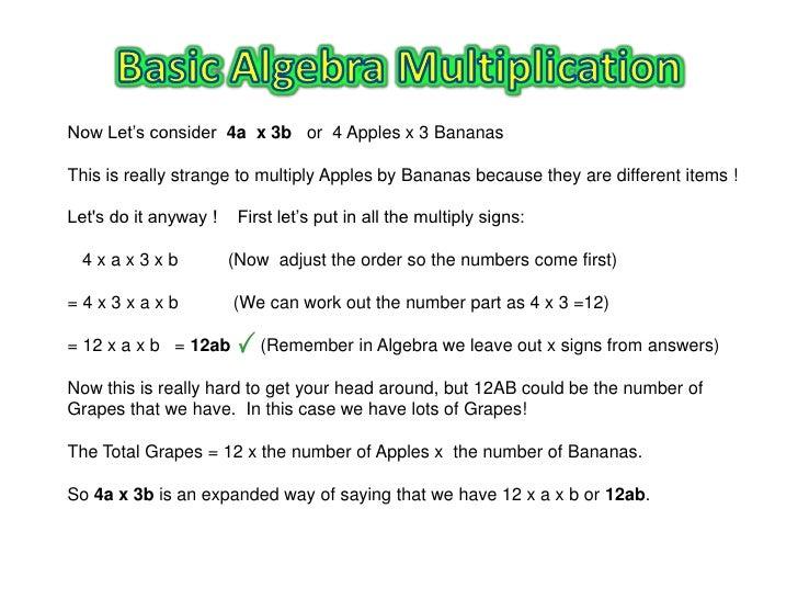 explain how to do basic algebra