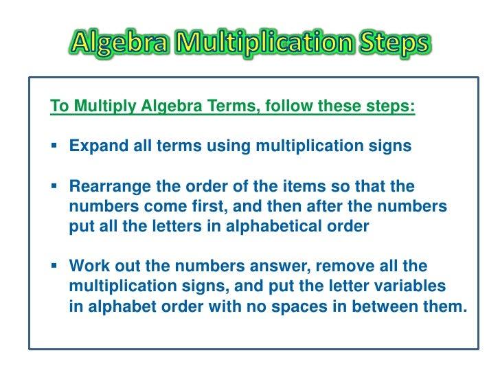 Basic Algebra Multiplication