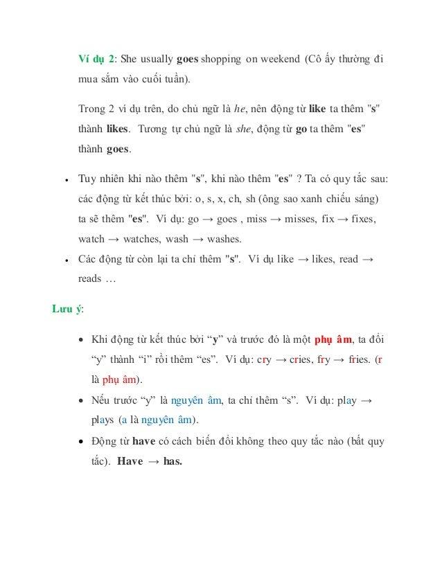 Thì hiện tại đơn (lý thuyết và bài tập) Slide 3