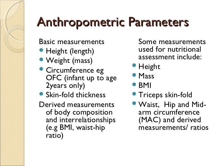 of anthropometric measurement
