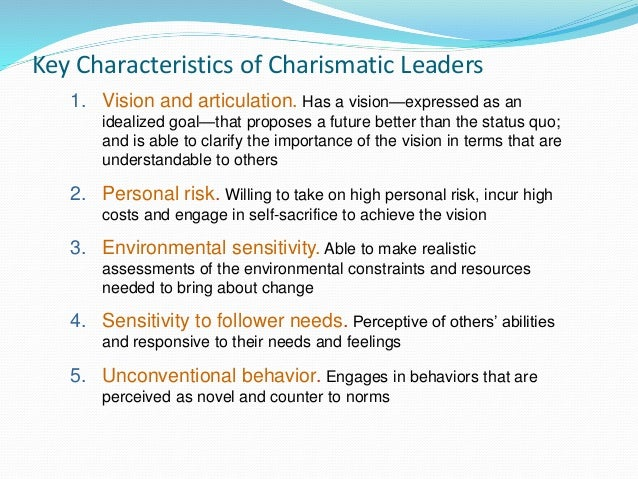 Charismatic Leadership Definitions and Quotes