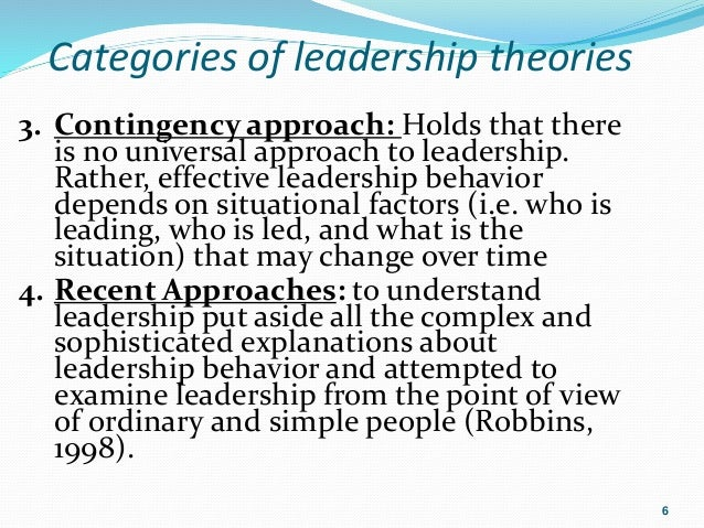 Basic approaches to leadership mz 03  |Universal Approach