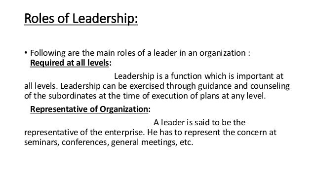Basic aproaches to leadership