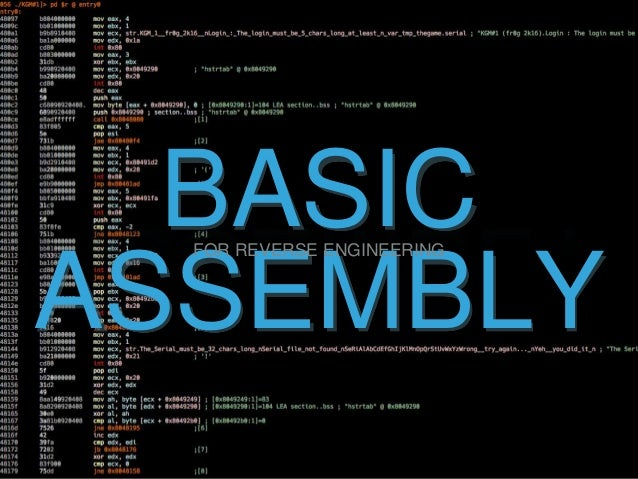 BASIC ASSEMBLY FOR REVERSE ENGINEERING