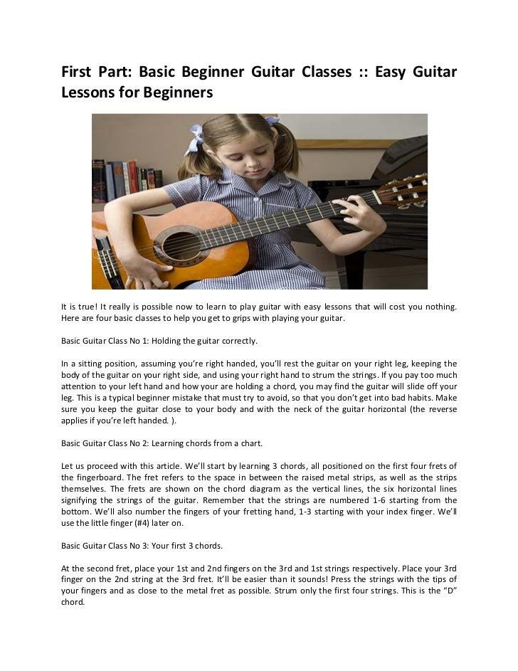 basic beginner guitar classes easy guitar lessons for beginners. Black Bedroom Furniture Sets. Home Design Ideas