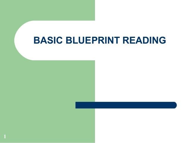 BASIC BLUEPRINT READING  1