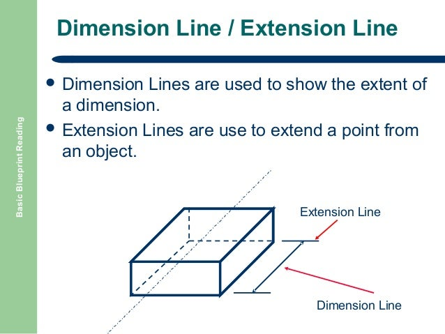 Basic blueprint reading 18 dimension line extension line basic blueprint reading malvernweather Image collections