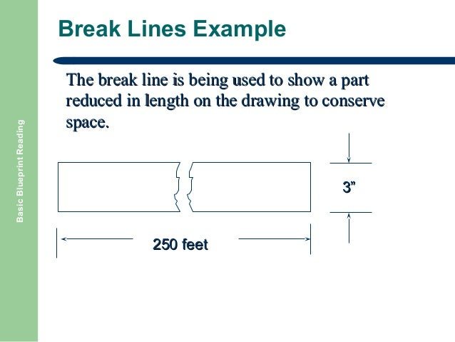 Basic blueprint reading sections 23 basic blueprint reading break lines malvernweather Choice Image