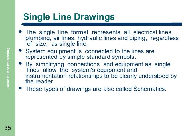 Basic blueprint reading 35 single line drawings basic blueprint reading malvernweather Images