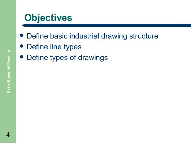 Basic blueprint reading drawing basics 3 4 objectives basic blueprint reading define malvernweather Choice Image