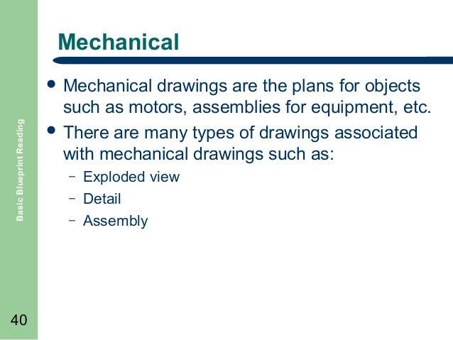 Basic blueprint reading 40 mechanical basic blueprint malvernweather Image collections