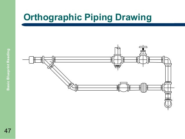 Basic blueprint reading basic blueprint reading orthographic piping drawing 47 malvernweather Image collections