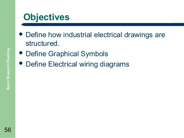 Basic blueprint reading electrical drawings 55 56 objectives basic blueprint reading define malvernweather Image collections