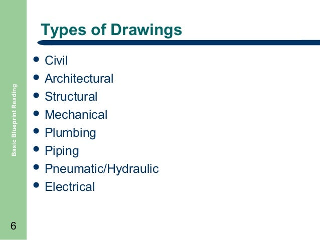 Basic blueprint reading equipment 6 types of drawings basic blueprint reading malvernweather Image collections