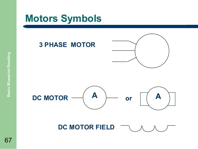 Basic blueprint reading 67 motors symbols basic blueprint reading 3 phase malvernweather Image collections