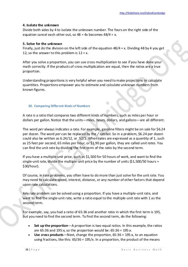 Basic business math study notes v02 38 fandeluxe Image collections