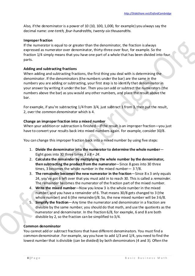 Basic business math study notes v02 business math 8 fandeluxe Gallery