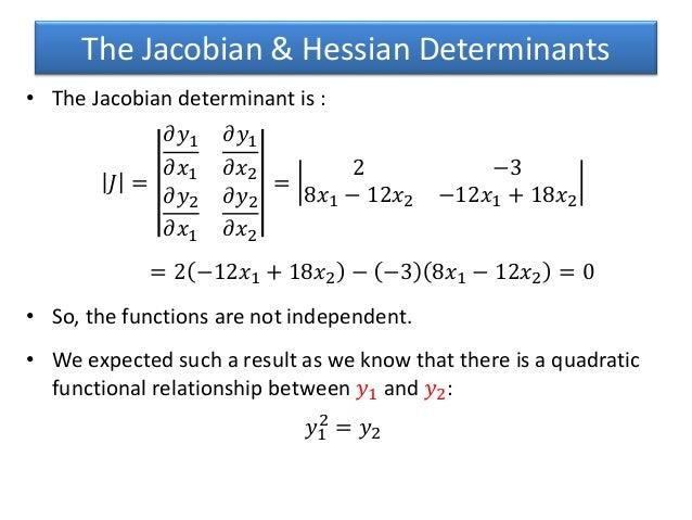 hessian jacobian relationship